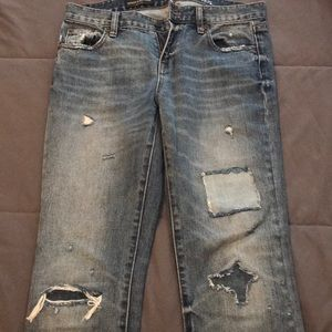 Jcrew distressed jeans
